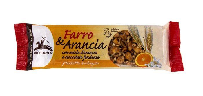 Barretta Farro e Arancia con miele d'arancio e cioccolato fondente
