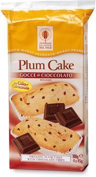 Plum cake con gocce di cioccolato