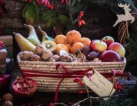 """Cestino di Natale """"Frutta fresca e Secca"""""""