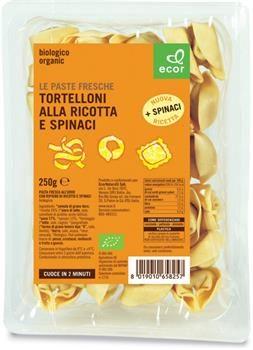 Tortelloni semintegrali Ricotta e Spinaci