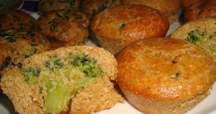 Muffin con sorpresa di broccoli