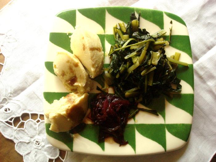 Cicerchie e catalogna… con cipolle rosse caramellate