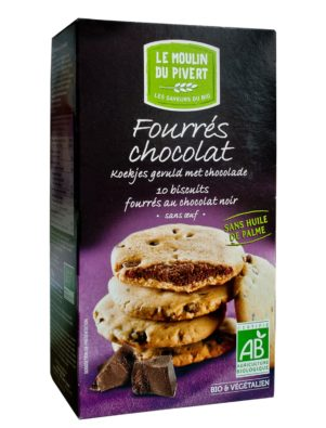 Cookies ripieni al Cioccolato fondente