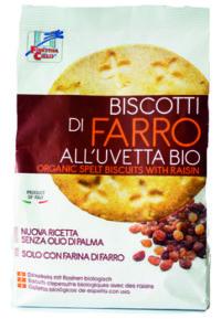 Biscotti di Farro all'Uvetta