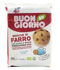 Brioche di Farro con Quinoa e gocce Freechoko