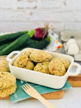 Polpette zucchine e feta al forno