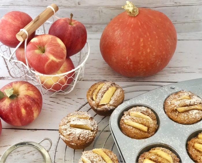 Muffin di zucca e mele