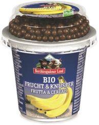Yogurt alla banana con gocce di cioccolato