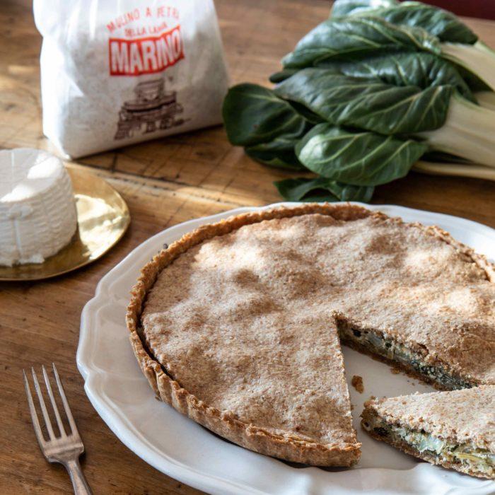 Torta Salata di Coste/Costine e Ricotta di Capra
