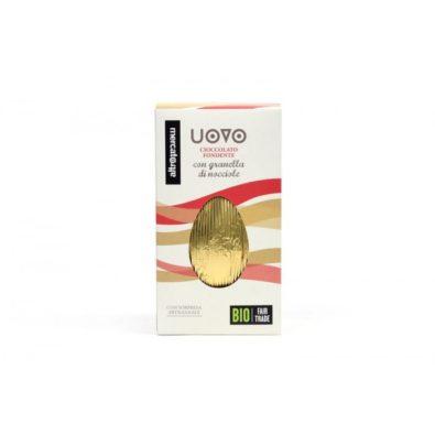 Uova di Pasqua cioccolato fondente con granella di nocciole